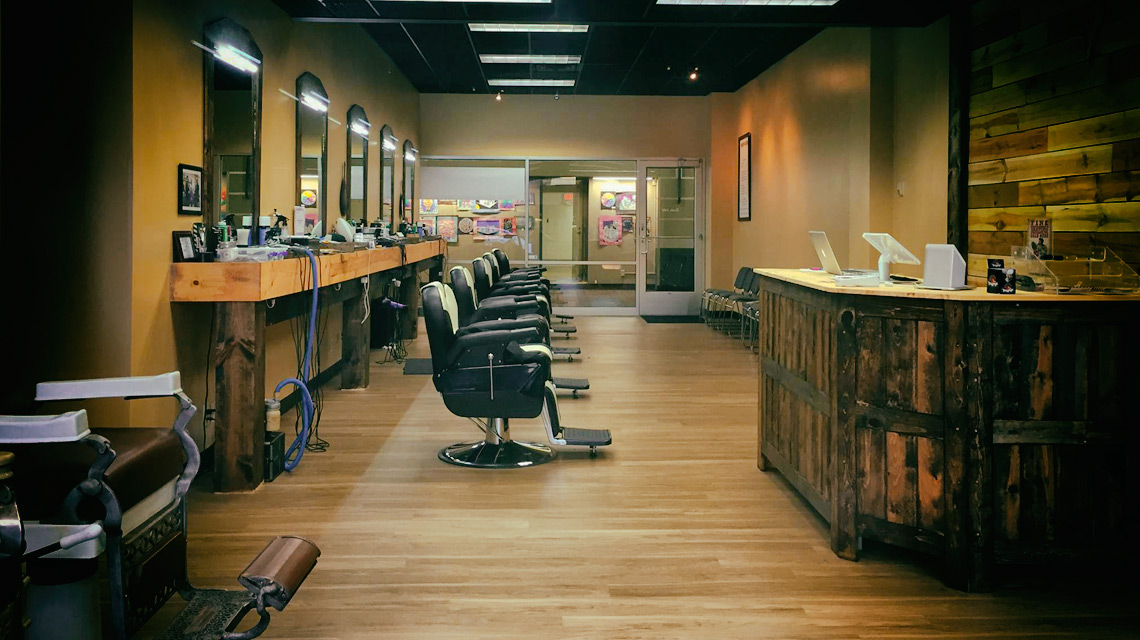 Downtown barbers Shave Club Interior space